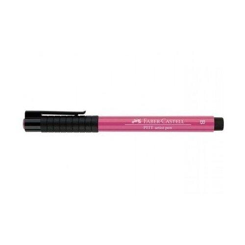 Faber-Castell ручка капиллярная Pitt Artist Pen Brush B, розовый цвет чернил faber castell ручка перьевая ambition birnbaum m