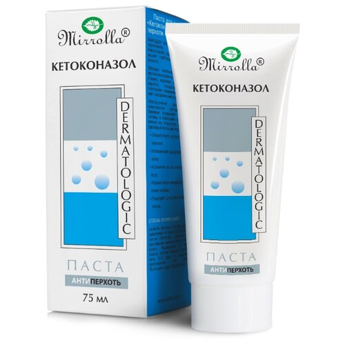 Mirrolla Паста для волос против перхоти Кетоконазол, 75 мл кетоконазол шампунь мирролла