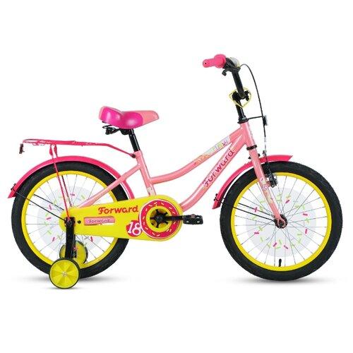 Детский велосипед FORWARD Funky 18 (2020) коралловый/фиолетовый (требует финальной сборки)