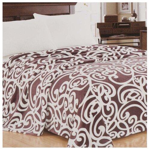 Плед Silvano Textile микрофибра полутораспальный 150 х 200 см (sp-03), белый / коричневый