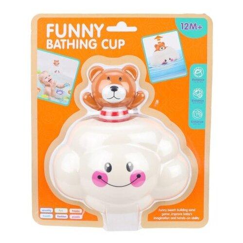 Купить Игрушка для ванной FUNNY BATHING TOYS Тучка (6631) белый/коричневый, Игрушки для ванной