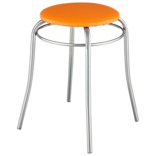 Табурет Nika Стайл 2 (ТБС2), металл/искусственная кожа, цвет: оранжевый