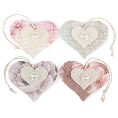 Купить Набор декоративных элементов Сердце 55 х 45 мм, Efco, Украшения и декоративные элементы