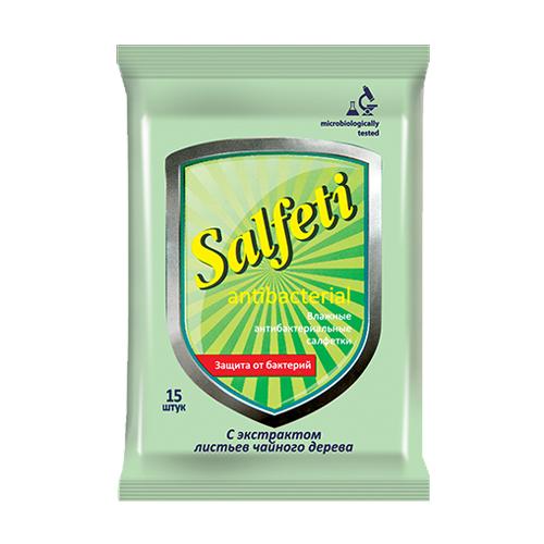 Влажные салфетки Salfeti антибактериальные 15 шт..
