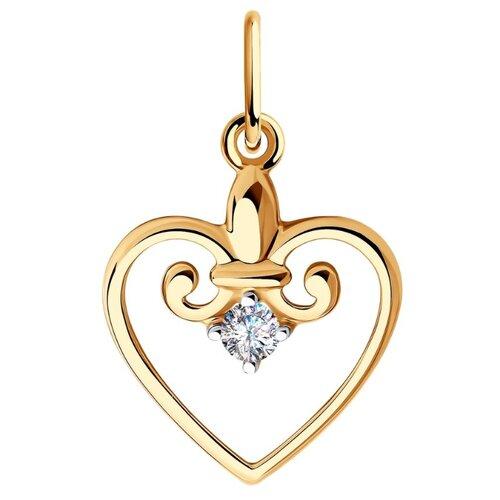 SOKOLOV Подвеска из золота с фианитом 035789
