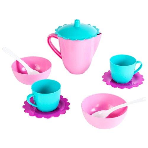 Фото - Набор посуды Mary Poppins Зайка 39323 розовый/голубой/фиолетовый сумка бочонок mary poppins зайка 530035 пластик розовый голубой