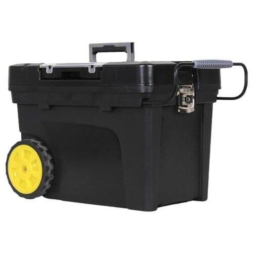 Ящик-тележка STANLEY Mobile Contractor Chest 1-97-503 60.3x37.5x43 см черный ящик с колесами инструментальный mobile contractor chest пластмассовый stanley 1 97 503 1 97 503