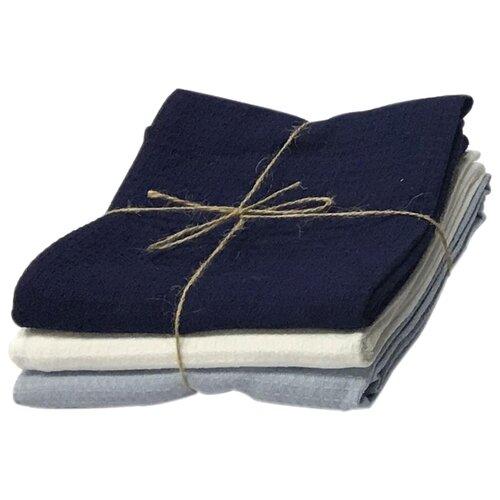Arya Набор кухонных полотенец Norton1 кухонное синий/белый/серый полотенце кухонное белорусский лен 17с102 природа 2 серый синий синий серый