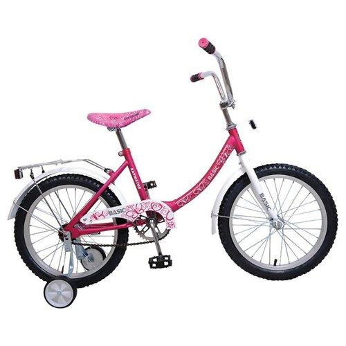 Детский велосипед Navigator Basic (BH18054) розовый/белый (требует финальной сборки) велосипед детский navigator вн20214 basic