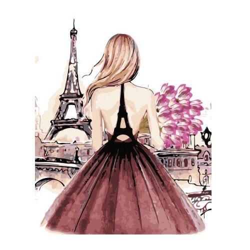 Купить ВанГогВоМне Картина по номерам Девушка в Париже , 40х50 см (ZX 22078), Картины по номерам и контурам