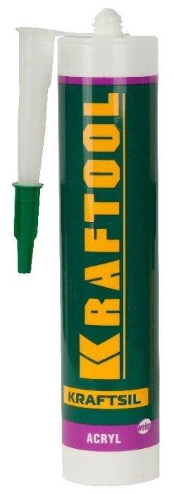 Герметик Kraftool AX200 Kraftsil Acrylic 300 мл. — купить по выгодной цене на Яндекс.Маркете