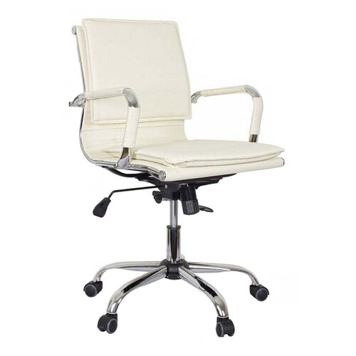 Компьютерное кресло College CLG-617 LXH-B офисное, обивка: искусственная кожа, цвет: бежевый компьютерное кресло college clg 619 mxh b офисное обивка текстиль цвет бежевый
