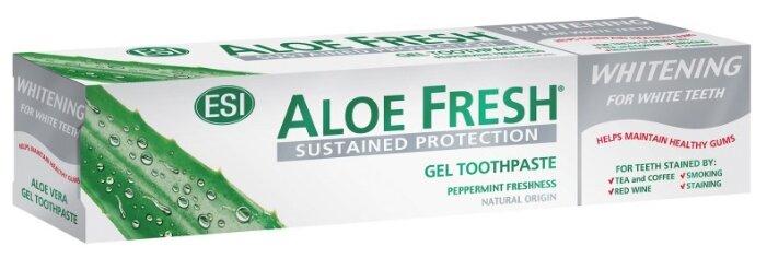 Зубная паста Aloe Fresh гелевая Whitening Peppermint