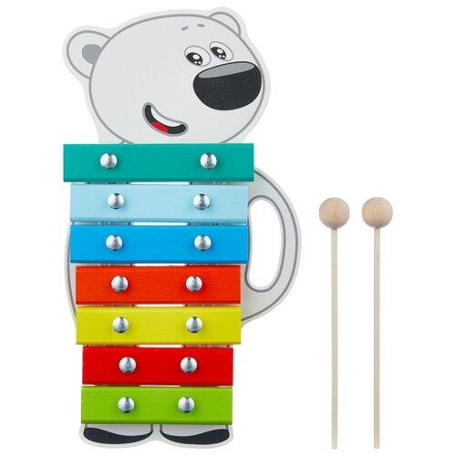 Купить Alatoys ксилофон Тучка BBW006 белый/зеленый/голубой, Детские музыкальные инструменты