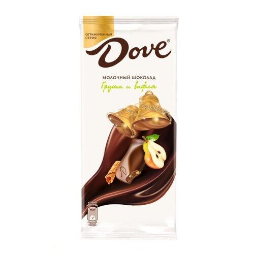 шоколад dove молочный миндально апельсиновый грильяж 90 г Шоколад Dove молочный груша и вафля, 90 г