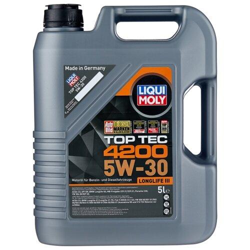 Фото - Полусинтетическое моторное масло LIQUI MOLY Top Tec 4200 5W-30 5 л полусинтетическое моторное масло liqui moly top tec 4200 diesel 5w 30 1 л