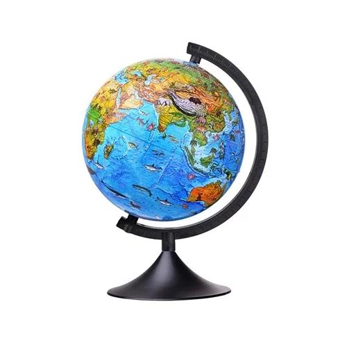 Глобус зоогеографический Globen Детский Классик 210 мм (К012100204) черный