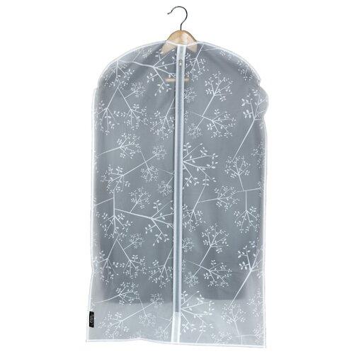 Domopak Living Чехол для одежды Bon Ton 60x100 см белый/светло-серый/прозрачный