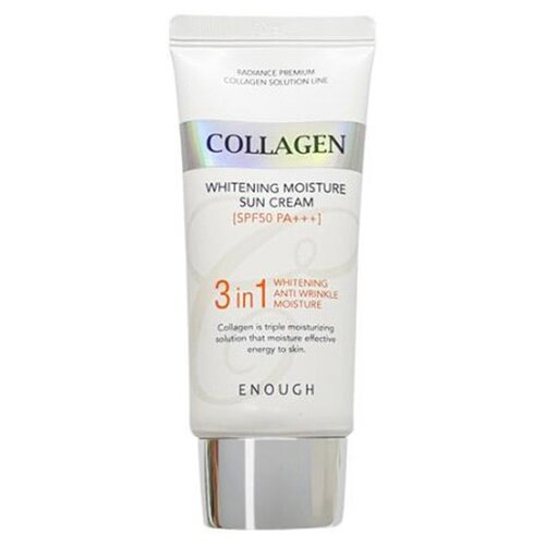 Enough крем Collagen Whitening Moisture Sun Cream 3 in 1, SPF 50, 50 мл, 1 шт