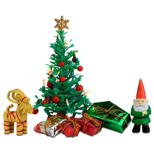 Купить Lundby Набор для кукол Рождественский (LB_60604700) зеленый, Мебель для кукол
