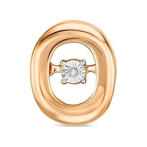 ЛУКАС Подвеска с 1 бриллиантом из красного золота P01-D-L-PL-34992