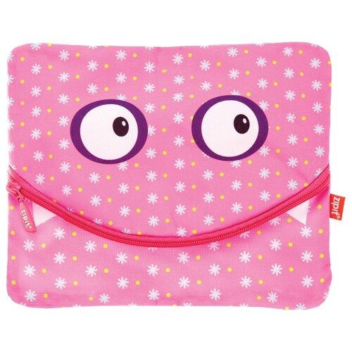 пеналы zipit пенал colorz box ZIPIT Папка-пенал на молнии Googly Smile для тетрадей и канцелярии розовый