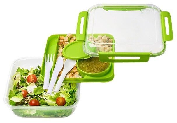 1,7 L Memory B3 RHOTO Lunchbox salatbox Cling Box with Cutlery