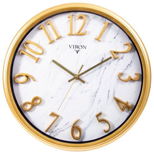 Часы настенные кварцевые Viron 222470 золотистыйЧасы настенные<br>