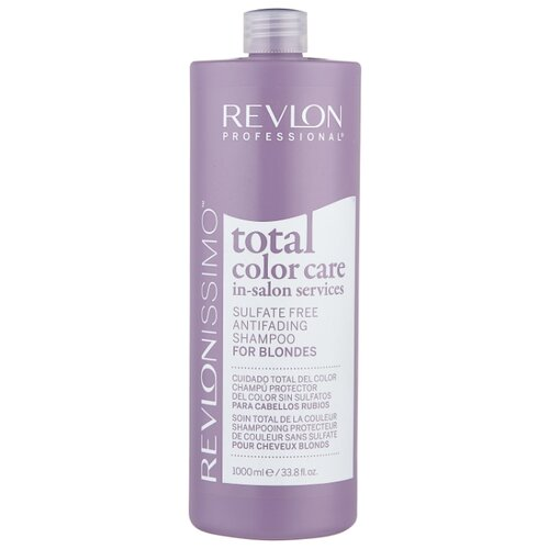Revlon Professional шампунь Revlonissimo Total Color Care Sulfate Free Antifading for Blondes 1000 мл цена 2017