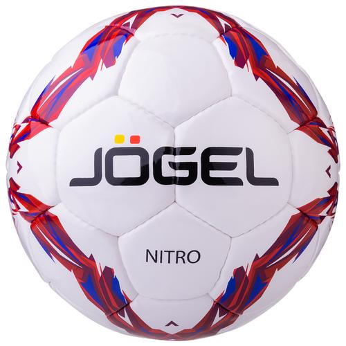 Футбольный мяч Jogel Nitro белый/красный/синий 4
