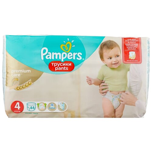 Pampers Premium Care трусики 4 (8-14 кг) 44 шт.