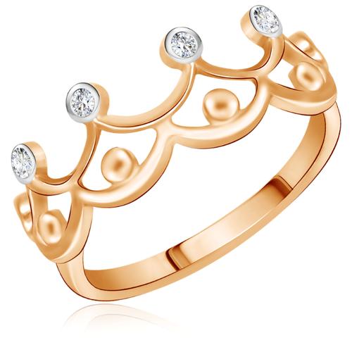 Бронницкий Ювелир Кольцо из красного золота Д0268-016772, размер 17 бронницкий ювелир кольцо из красного золота д0268 017060 размер 17