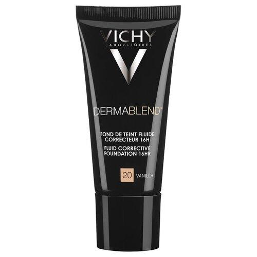 Vichy Тональный флюид Dermablend, 30 мл, оттенок: 20 vanilla vichy dermablend купить