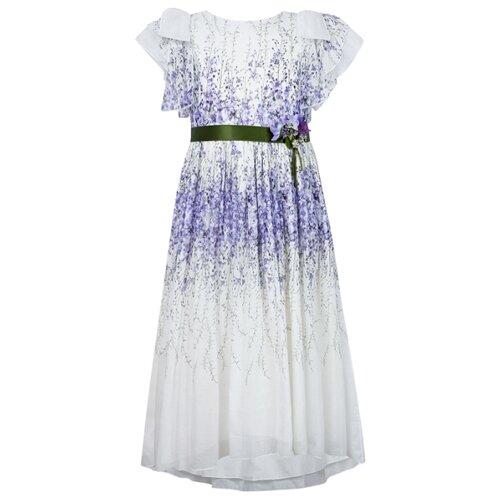 Платье Lesy размер 174, белый/фиолетовый