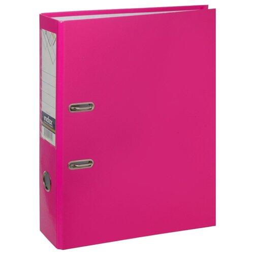 Купить Index Папка-регистратор COLOURPLAY А4, 80 мм, ламинированная, неоновая неоновый розовый, Файлы и папки