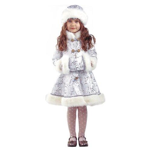 Купить Костюм Батик Снегурочка Хрустальная (182), серебристый, размер 146, Карнавальные костюмы