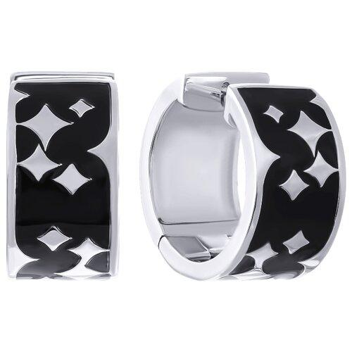 JV Серебряные серьги с эмалью OE01507A-SR-ENAM-001-WG