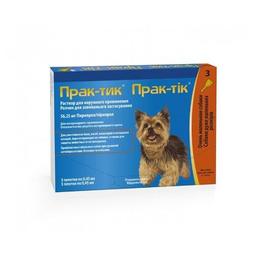 Elanco капли от блох и клещей Прак-тик для собак и щенков от 2 до 4.5 кг.