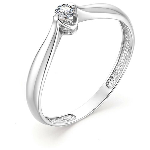 АЛЬКОР Кольцо с 1 бриллиантом из белого золота 13178-200, размер 17 алькор кольцо с 1 бриллиантом из белого золота 12869 200 размер 17 5