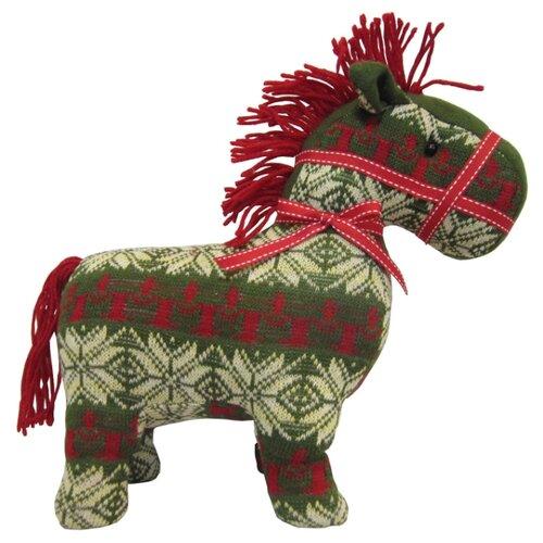 цена на Мягкая игрушка SNOWMEN Лошадь зеленая 29 см