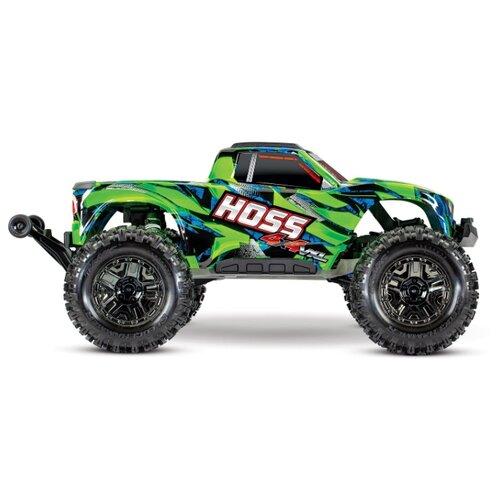 Купить Монстр-трак Traxxas Hoss 4x4 VXL (90076-4) 1:10 51.4 см зеленый/синий, Радиоуправляемые игрушки