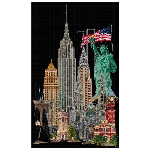 Thea Gouverneur Набор для вышивания Нью-Йорк 79 х 50 см (471.05) thea gouverneur набор для вышивания санкт петербург 50 х 79 см 430а