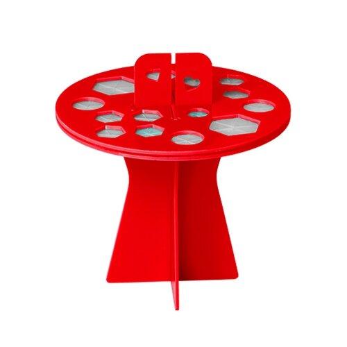 Купить Подставка Irisk Professional для сушки кистей 16 ячеек красный