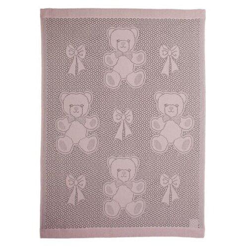 Купить Плед MYB Bear and Bows 76х102 см в подарочной упаковке розовый, Покрывала, подушки, одеяла