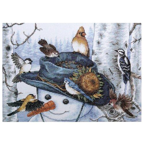 Купить Dimensions Набор для вышивания Sunflower Snowman (Снеговик с подсолнухом) 25 х 36 см (35137), Наборы для вышивания
