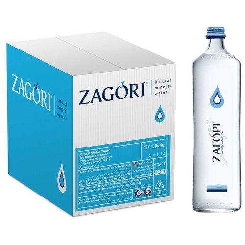 Фото - Минеральная вода Zagori негазированная, стекло, 12 шт. по 1 л минеральная вода zagori газированная стекло 0 75 л