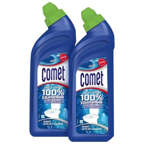 Comet гель для туалета Expert океан, 2 шт., 0.45 л недорого