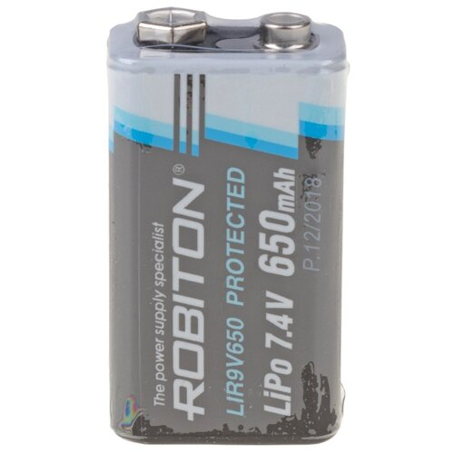 Фото - Аккумулятор Li-Pol 650 мА·ч ROBITON LIR9V650, 1 шт. аккумулятор li ion 550 ма·ч robiton 16340 кол во в упаковке 2 шт