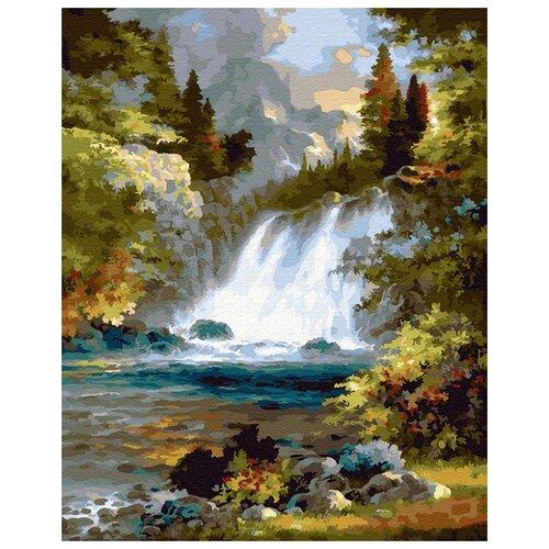 Купить Картина по номерам ВанГогВоМне ZX 23349 Шум водопада 40х50 см, Картины по номерам и контурам