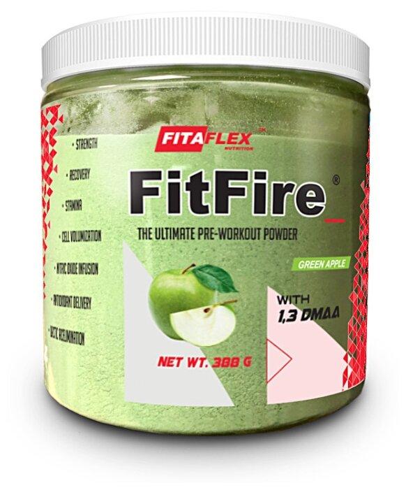 Предтренировочный комплекс FitaFlex FitFire with 1,3 DMAA 388 г. (зеленое яблоко)